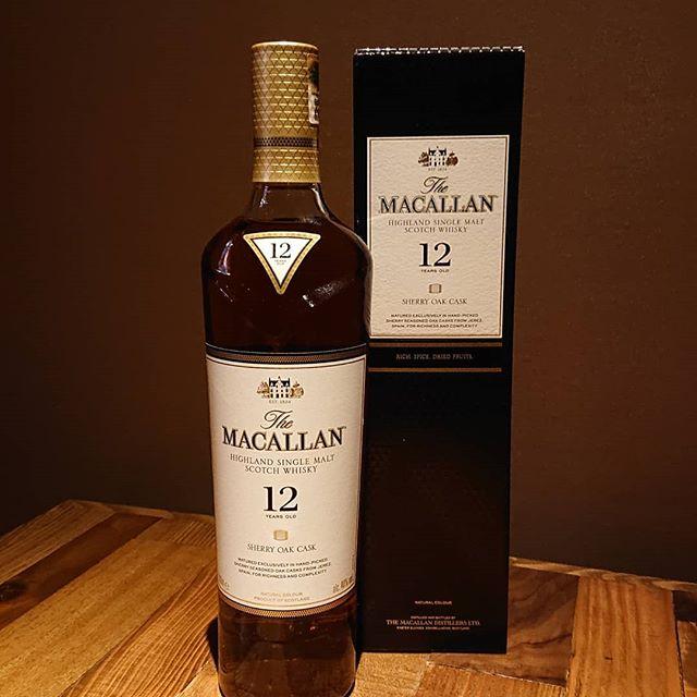 マッカランのニューデザインのボトル。何かちょっぴりスッキリしたかな。#マッカラン #萩原バー #大分バー #ゴールデンウィーク営業 #萩原二次会