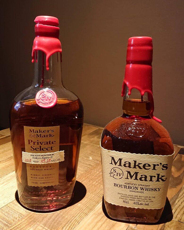 メーカーズマーク。 お酒に詳しくなくても、一度はこのボトルを見たことは有る!て、人もちらほら。 味も風味も強く、ハイボールにしてもしっかりとした味わい。  #萩原グルメ #萩原宴会 #萩原貸し切り #大分グルメ #大分バー #個室の有る居酒屋